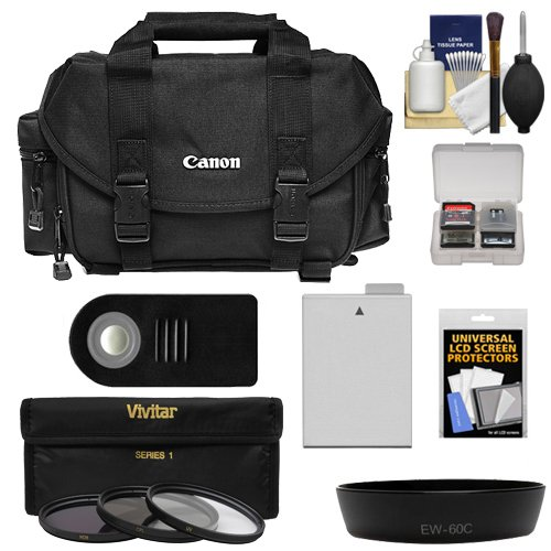 Canon 2400 Digital SLR Camera Case with 3 UV/CPL/ND8 Filters + LP-E8 Battery + Remote + Hood + Kit for EOS Rebel T2i, T3i, T4i, T5i & 18-55mm Lens by Canon