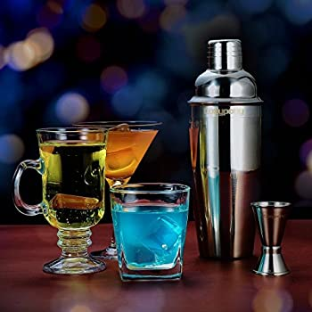 Cocktail Shaker, Cozypony Professional 24 Ounces Stainless Steel Cocktail Shaker Set