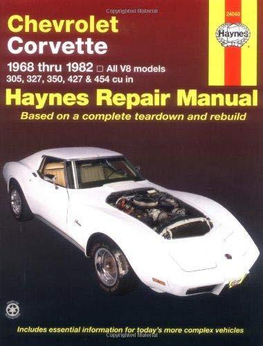 Chevrolet Corvette (68-82) Haynes Repair Manual (1966 Motors Auto Repair Manual)