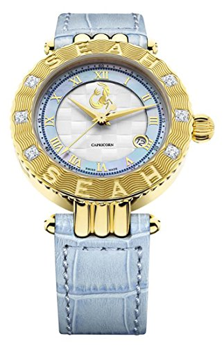 Seah-Empyrean-Zodiac-sign-Capricorn42mm-Limited-Edition-18K-Yellow-Gold-Tone-Swiss-Made-Automatic-luxury-Diamond-watch
