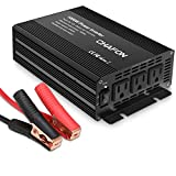 Chafon 1000W Power Inverter DC 12V to 110V with 3 AC Outlets Car Inverter for Household Appliances, RV Solar Kit in case Emergency, Outage and Hurricane - Black