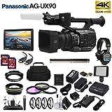 Panasonic AG-UX90 4K/HD Professional Camcorder (AG-UX90P) Movie Maker Bundl