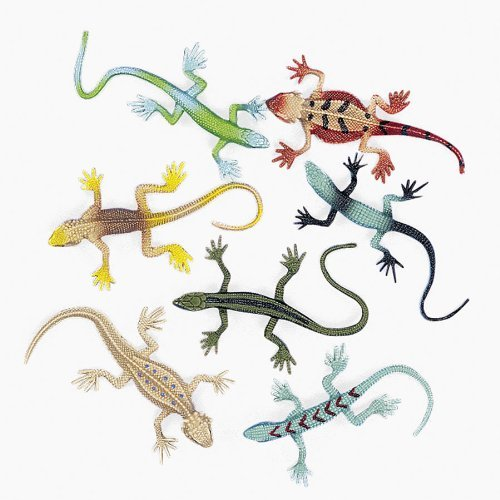 Fun Express Vinyl Lizard Assortment, 48 -