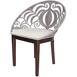 New Pacific Direct 1040002 Ambrosia Tropical Chair, Washed Gray