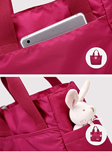Bolso portable de la momia, bolso multi-functional del bebé de la madre, bolso de la madre, fuera del bolso, bolso portable del trazador de líneas ( Color : Blue flowers ) Blue flowers
