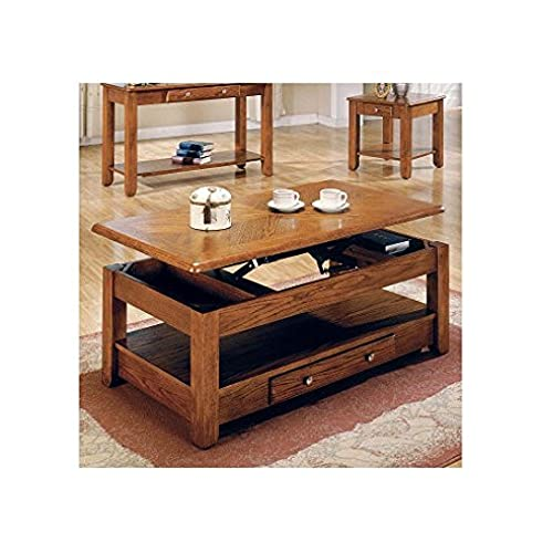 Oak Coffee Tables Amazoncom - Oak coffee table with drawers and shelf