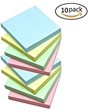Dragon Eight Self-Stick Notes Sticky Notes 100 Sheets/Pad 4 Candy Colors 3 inch X 3 inch 10 Pack