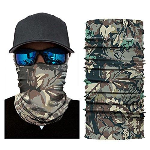 (OWMEOT Outdoor Sports Multifunctional Headwear - Wear as Headband Face Shield Neck Gaiter Scarf Wrap Sweatband for Hunting Fishing Hiking - Seamless Tube Bandana (E))
