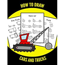 How to draw CARS and TRUCKS : Step by Step Guide for KIDS (Cars, Trucks, Planes, Trains and Big Machines)