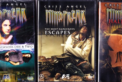 Criss Angel : Mindfreak : Best of Seasons 1 and 2 , Mindfreak Halloween Special , Mindfreak Most Dangerous Escapes : Magic Triple -