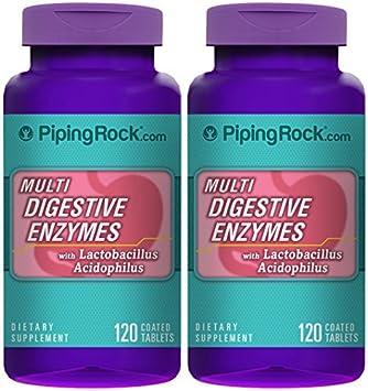 Amazon.com: Ribete Rock digerir lo Multi enzimas digestivas ...
