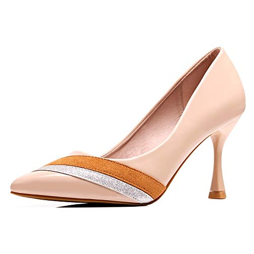 6fe477158d662 sorliva High Heels,Women's Classic Pointed Closed Toe Pumps Office Lady  High Heel Wedding Party Basic Shoes