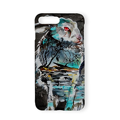 Kingta Cell Phone Case Cover Waves Of Ice Watercolor Paintings Abstract Fantastic Animal Durable Plastic Protective Case For Iphone 7 Plus/8 Plus ()