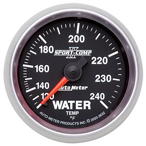 - Auto Meter 3632 Sport Comp II Mechanical Water Temperature Gauge