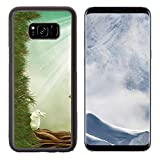 wi fae - Liili Premium Samsung Galaxy S8 Plus Aluminum Backplate Bumper Snap Case ID: 21533879 Fantasy landscape with tree and rabbit