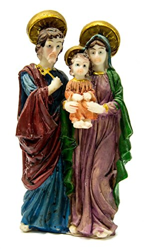 The Holy Family Figurine Hand Painted Statue Holyland 5.1'' by Holy Land Gifts