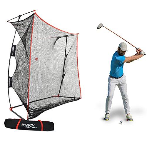 Rukket 9x7x3ft Haack Golf Net Pro   Practice Driving Indoor and Outdoor   Professional Golfing at Home Swing Training Aids   by SEC Coach Chris Haack from Rukket Sports