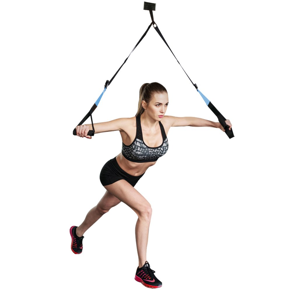 KEAFOLS Fitness Training Pro Suspension System Training Kit Professional Gym Fitness Training Straps for Home Gym Workout by KEAFOLS