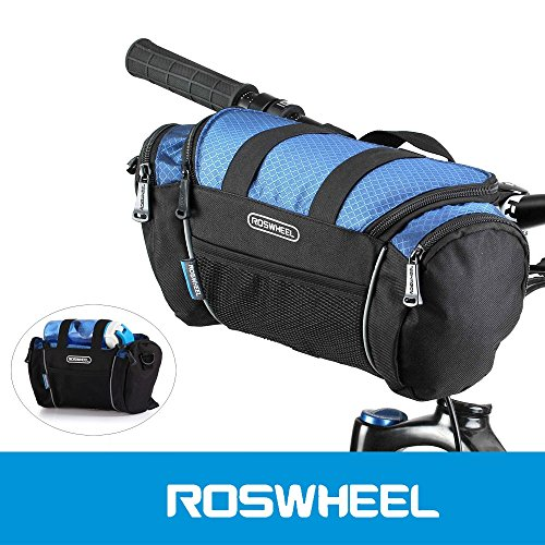 ROSWHEEL 5L Bike Handlebar Bag Bicycle Front Tube Pocket Shoulder Pack Outdoor Sports Cycling Mountain Bag Sling - Brook Mountain Mall