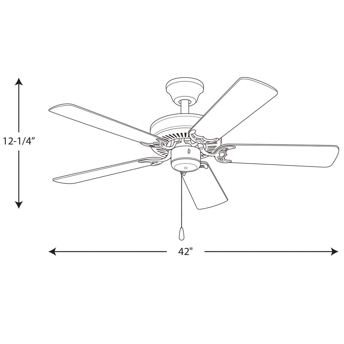 Progress Lighting P2500-09 42-Inch Fan with 5 Blades with Reversible Cherry/Natural Cherry Blades, Brushed Nickel by Progress Lighting (Image #7)