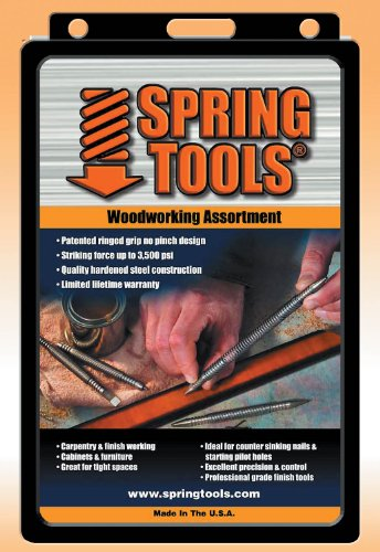 (Spring Tools WWA1105 5 Piece Center Punch, Nail Setter and Wood Chisel Set)