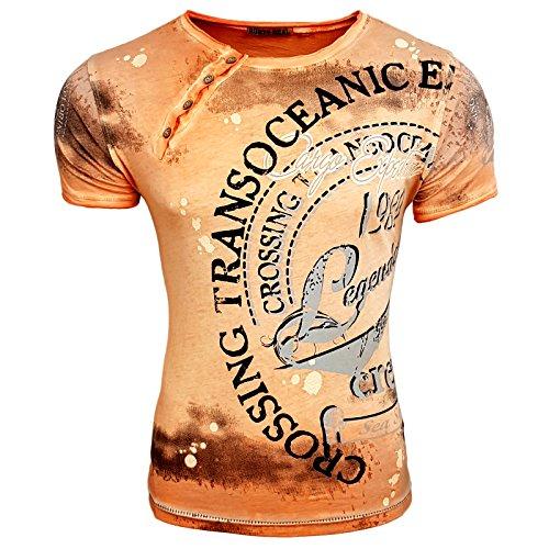 Rusty Neal Herren T-Shirts T-Shirt weiß weiß XL