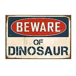 Rape Flower Beware of Shark,DINOSAMetal Sign Flag Plaque Bar Club Cafe Garage Wall Decor Art (B)