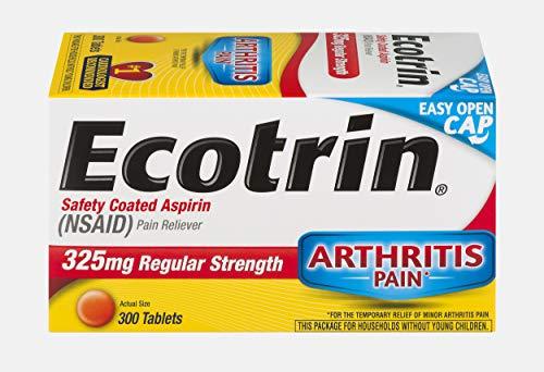 Ecotrin Regular Strength Safety Coated Aspirin | Arthritis Pain | 300 Tablets