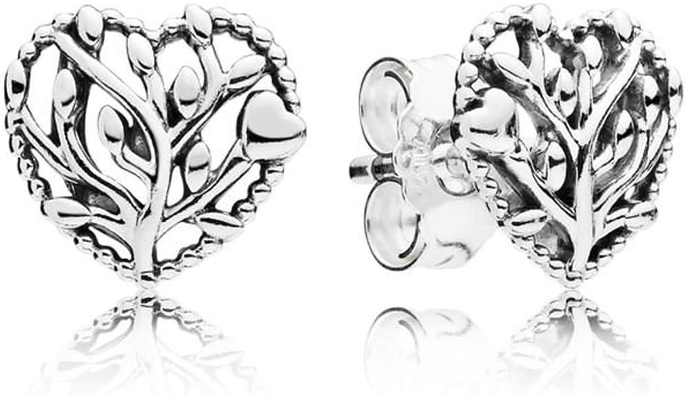 Pandora Pendientes de botón Mujer plata - 297085