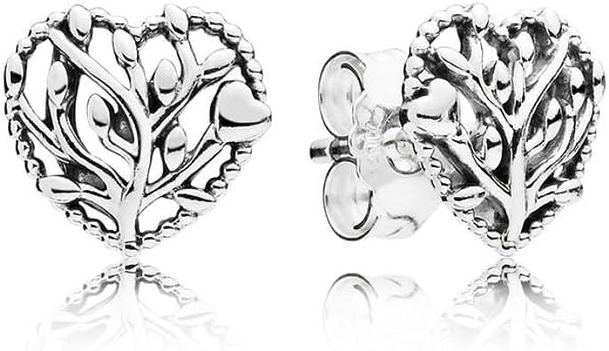 Oferta amazon: Pandora Pendientes de botón Mujer plata - 297085