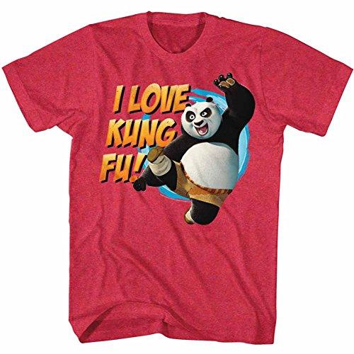 American Classics Kung Fu Panda Movie Love Kung Fu Cherry Heather Adult T-Shirt Tee