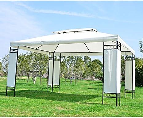 HOMCOM Carpa 3x4x2,7m Techo Poliester 3x4m Estructura Metal Cenador Jardin: Amazon.es: Hogar