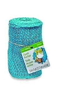 FloraCraft, Burlap Roll, 5-Inch Wide by 5-Yard Length, Blue