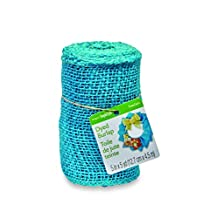 FloraCraft RS216/1/3 Burlap Roll, 5-Inch Wide by 5-Yard Length, Blue