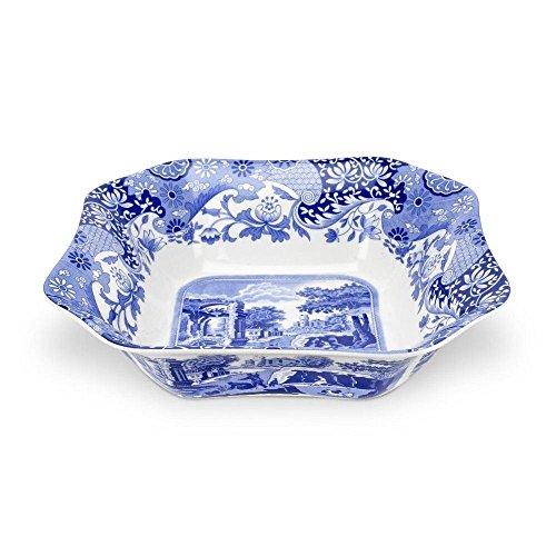 Blue Italian Square Salad Bowl - Spode - Blue Italian Square Salad Bowl 23.5cm (Pack of 2)