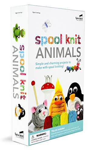 Spice Box SP22140 Make and Play Range Spool Knit Animals Craft Kit ()