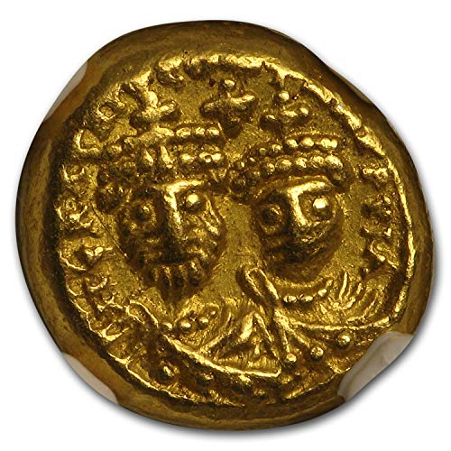 613 IT Byzantine Gold Solidus Emp. Heraclius & Her. (613-641 AD) AU NGC Gold About Uncirculated NGC