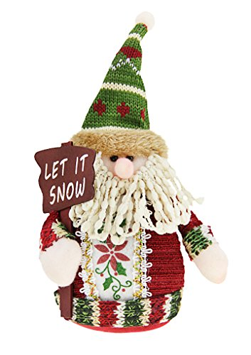 Merry Christmas Gift Toys Plush Standing Santa Claus Snowman Reindeer Stuffed Rag Toy Dolls Collectible Figurines Home Party Indoor Table Desktop Fireplace Furnishing Decoration Xmas Birthday (Plush Standing Snowman)