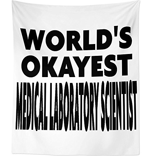 Westlake Art Worlds Okayest Medical Laboratory Scientist - Wall Hanging Tapestry - Sayings Artwork Home Decor Living Room - 68x80 Inch (2001-3A948) by Westlake Art