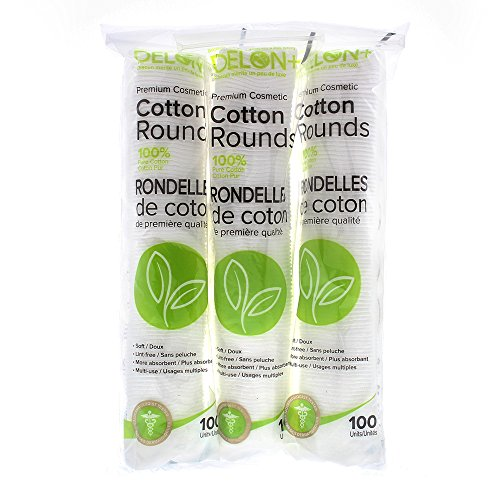 Delon 100% Cleansing Cotton Rounds - Faces Round