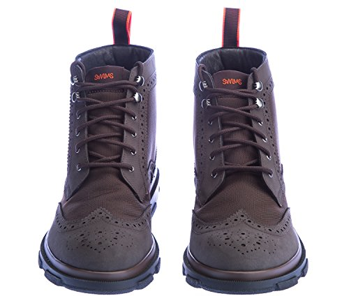Swims Storm High Brogue Boot in Brown