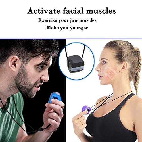 Jaw Exerciser, Jawline Exerciser Face and Neck Toning Equipment Facial Jaw Exercise Ball, for Facial Exerciser Helps Reduce Stress and Cravings (3 Pcs) (purple)