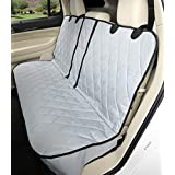 Dog Seat Cover without Hammock 60/40 fold down seat and middle seat belt capable - USA company, gris, Regular