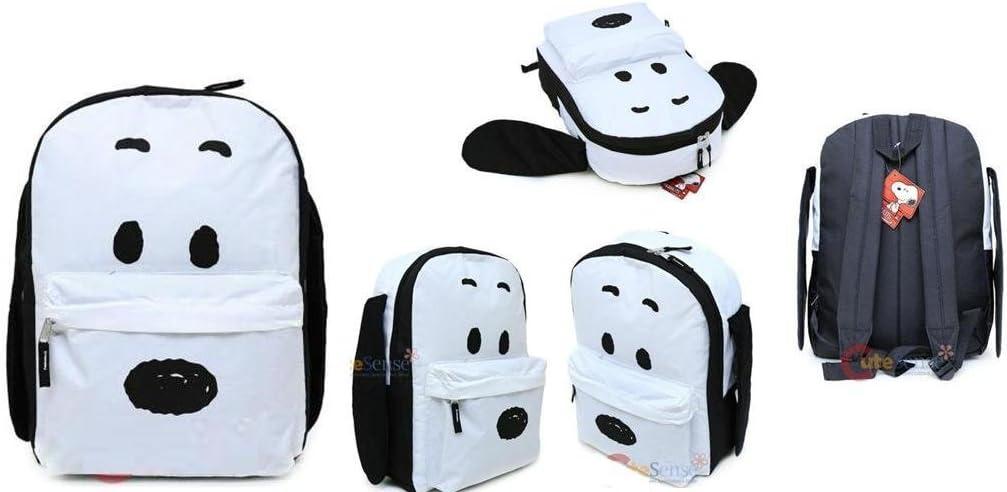 Peanuts Backpack Snoopy 3D Plush Ear 16 School Bag New 843684