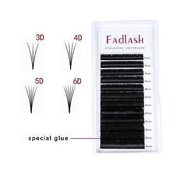 0367008b6b9 Amazon.com : Volume Lash Extensions 2D 4D 5D 6D~10D Cluster Lashes D Curl  0.07mm 18mm Knot Free Individual Eyelashes 7D 8D Professional Flare Lashes  : ...