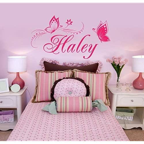Charming Personalized Name U0026 Butterflies Vinyl Wall Decal Sticker Home  Decor For Girlsu0027 Room  You Choose Name And Color