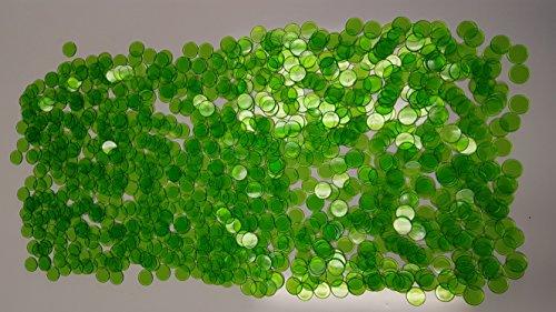 Extra Markers Bingo - Regal Games 1,000 Count Bingo Chips (Green)