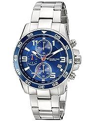 Stuhrling Original Men's 985.03 Concorso Analog Display Quartz Chronograph Date Silver Watch with Tachymeter