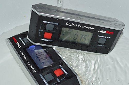 GemRed 82413 Digital Protractor Angle Finder Gauge Inclinometer with Backligh...