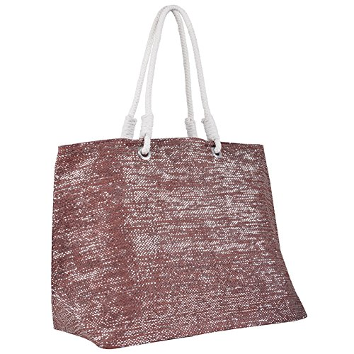 Red Shoulder Woven Shopping Bag Ladies Holiday Sparkle Beach Straw Tote Paper nPwfq4vqEI